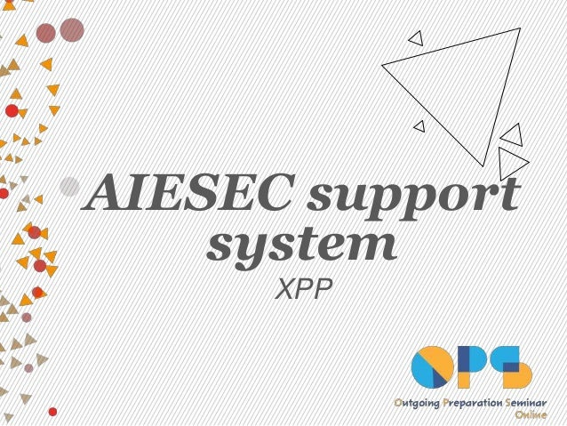 AIESEC support system XPP