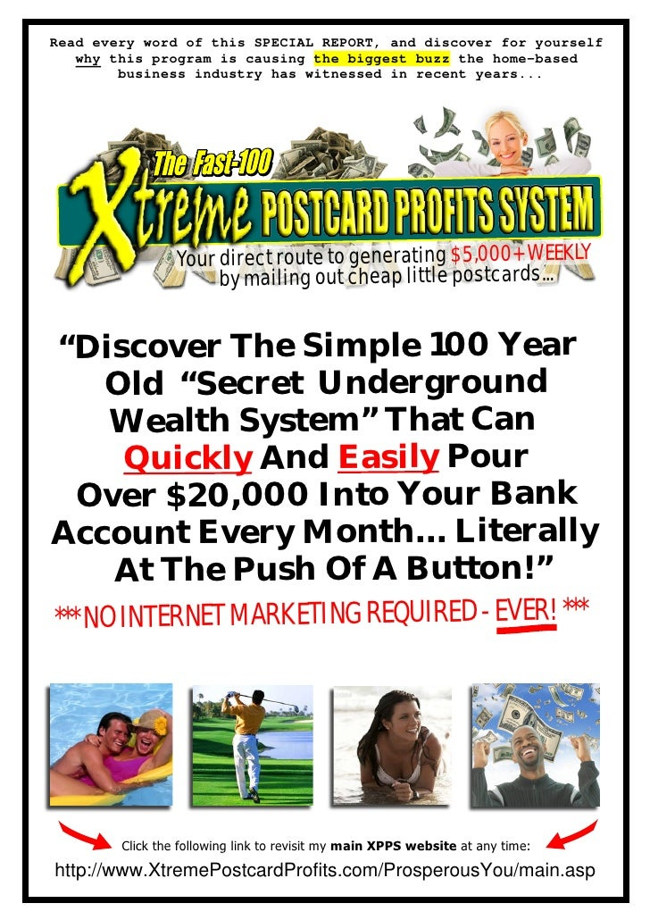 Read every word of this SPECIAL REPORT, and discover for yourself    why this program is causing the biggest buzz the home...