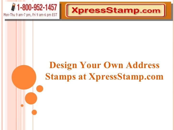 Design Your Own Address Stamps at XpressStamp.com
