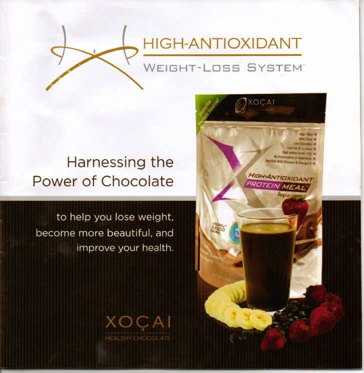 """HIGH.. NTIOXIDANT                    A               WEIGHT-Loss   SYSTEM""""         Harnessing the Power of Chocolate"""