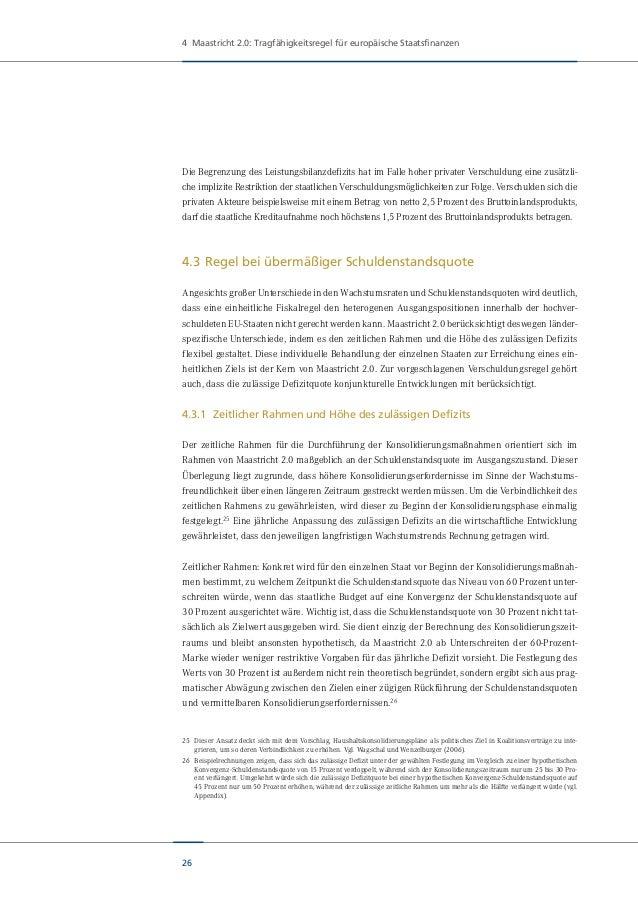 Studie: Maastricht 2.0 Eine neue Finanzregel für Europa