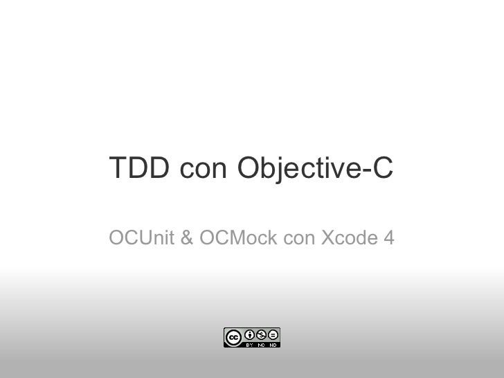 TDD con Objective-COCUnit & OCMock con Xcode 4
