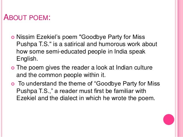 good bye party for miss pushpa Goodbye party for miss pushpa ts (chapter-3) mpboard class-12th english special extracts, summary, questions answers, solutions (english to hindi explanation) #goodbyepartyformisspushpats.