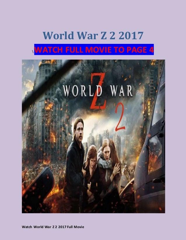 world war z free full movie stream