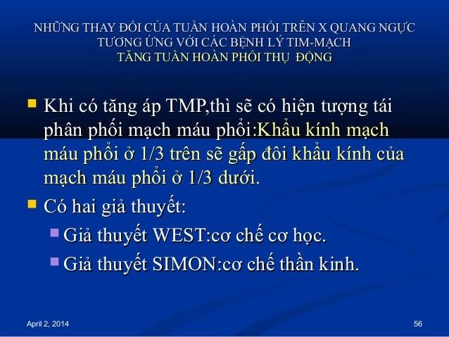 April 2, 2014 56 NHỮNG THAY ĐỔI CỦA TUẦN HOÀN PHỔI TRÊN X QUANG NGỰCNHỮNG THAY ĐỔI CỦA TUẦN HOÀN PHỔI TRÊN X QUANG NGỰC TT...