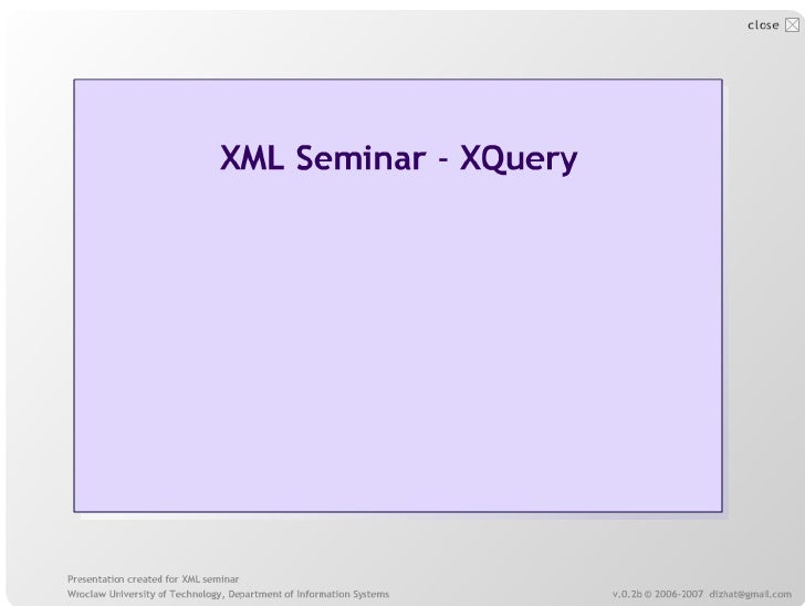 XQuery overview