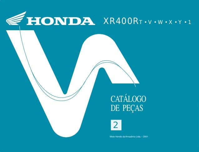 22 Moto Honda da Amazônia Ltda. 00X1B-KCY-002 A0700-0501IMPRESSO NO BRASIL XR400RT•V•W•X•Y•12 XR400RT • V • W • X • Y • 1 ...