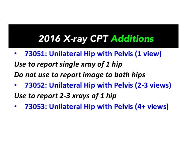 2016 Xray CPT Changes Affecting Chiropractors SLIDESX Ray Femur Cpt