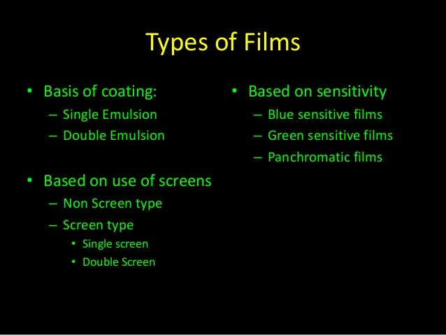 Xray film & film processing.