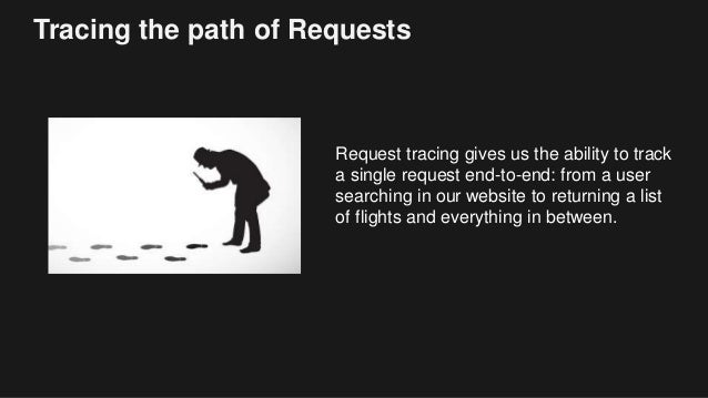 Tracing the path of Requests Request tracing gives us the ability to track a single request end-to-end: from a user search...