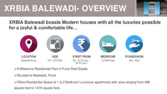 Xrbia Balewadi Pune  Experience World Class Living