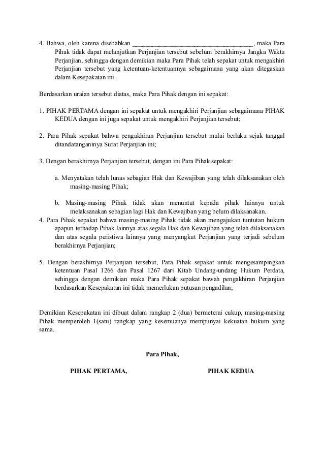 Surat Pembatalan Perjanjian