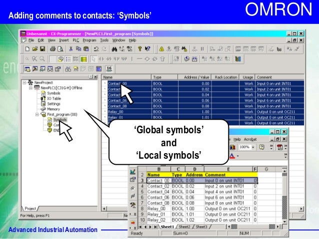 Omron Cx One 96 - forgestaff