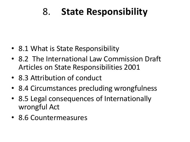 international legal requirements monetary fee ilc content pieces about state responsibility