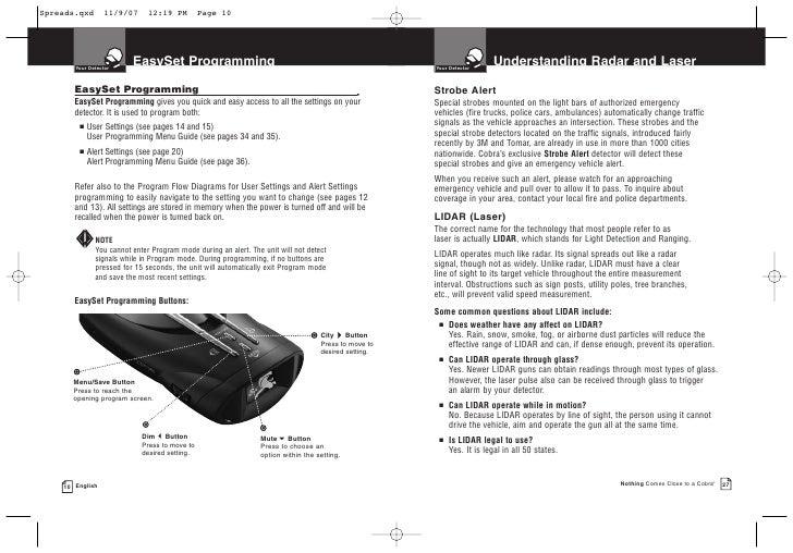 cobra xrs 9880 user manual