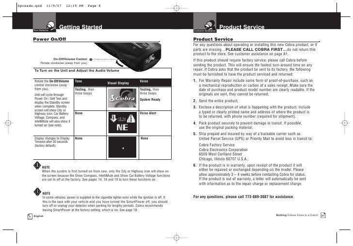 cobra 12 band manual
