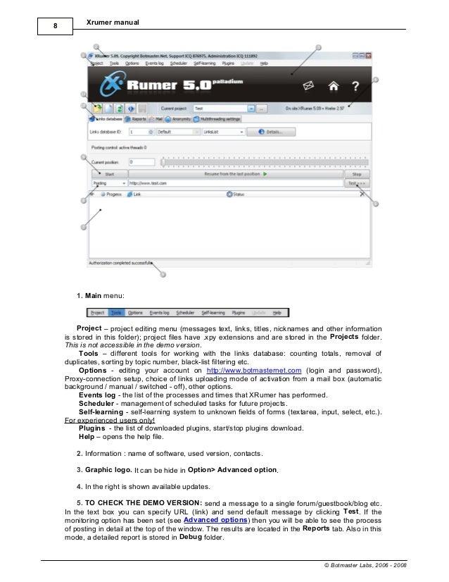 Manual xrumer 3.0 продвижение сайтов в орле