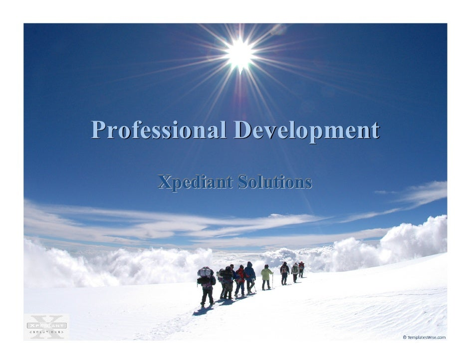 Professional Development      Xpediant Solutions