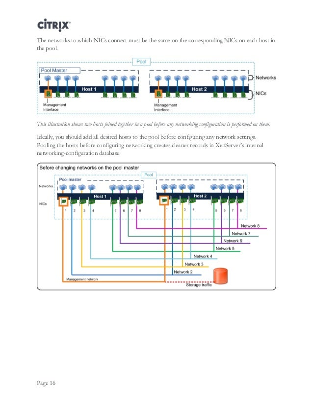 Citrix xenserver design designing xenserver network for Xenserver show poolmaster