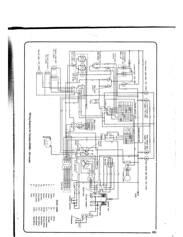 1980 yamaha xs850 wiring diagram  diagram  auto wiring diagram