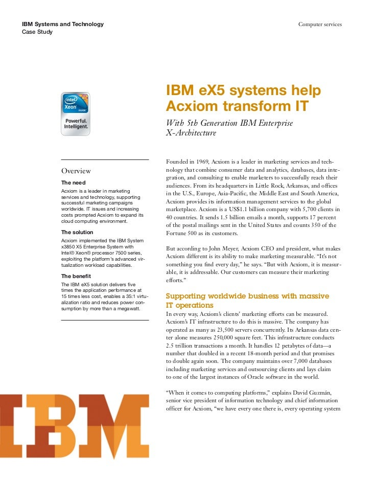 IBM Systems and Technology                                                                                    Computer ser...