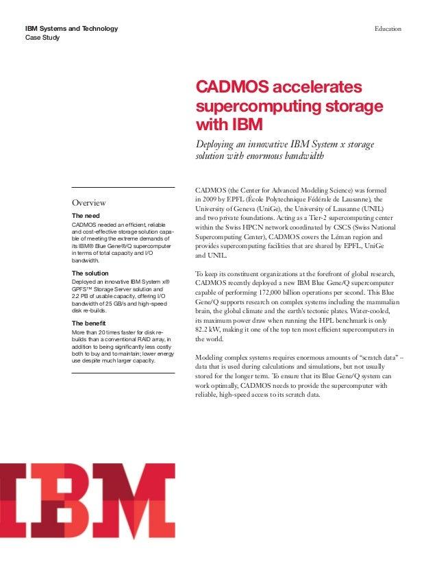 CADMOS accelerates supercomputing storage with IBM