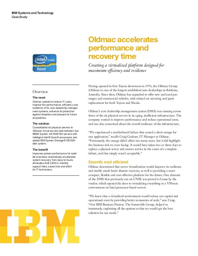 Oldmac accelerates performance and recovery time