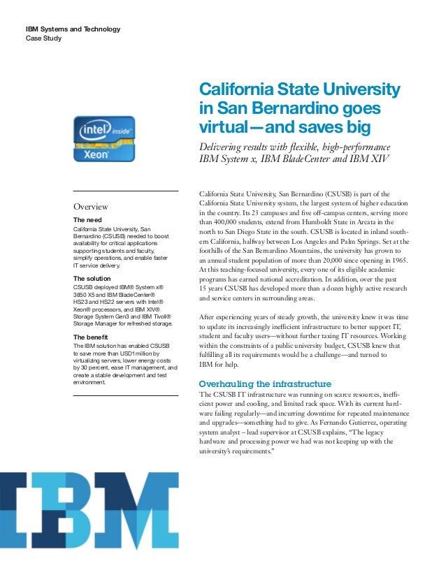California State University in San Bernardino goes virtual and saves big