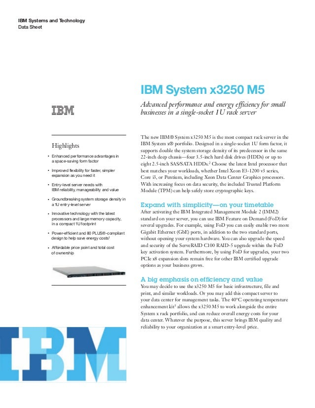 IBM System x3250 M5