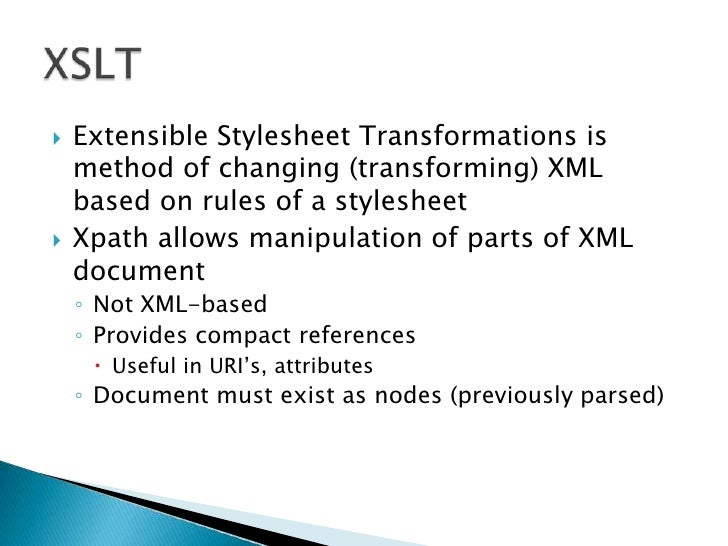 XSLT Overview