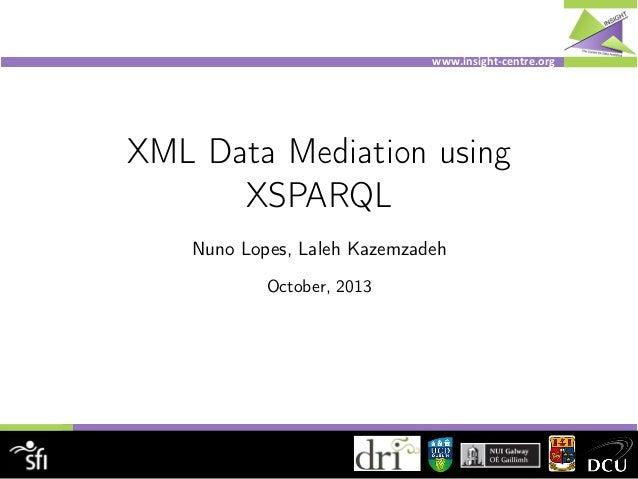 www.insight)centre.org. XML Data Mediation using XSPARQL Nuno Lopes, Laleh Kazemzadeh October, 2013
