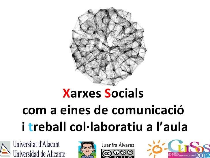 Xarxes Socialscom a eines de comunicaciói treball col·laboratiu a l'aula               Juanfra Álvarez