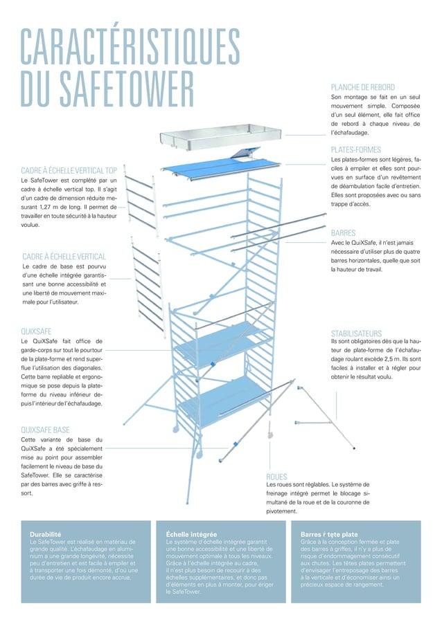 CARACTÉRISTIQUES DUSAFETOWER PLATES-FORMES Les plates-formes sont légères, fa- ciles à empiler et elles sont pour- vues en...