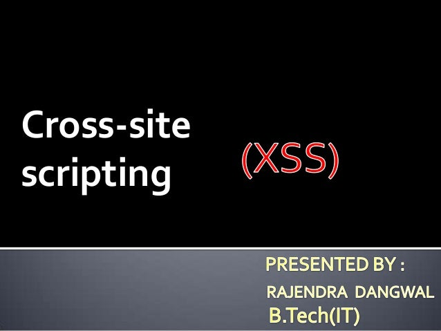 Cross-site scripting