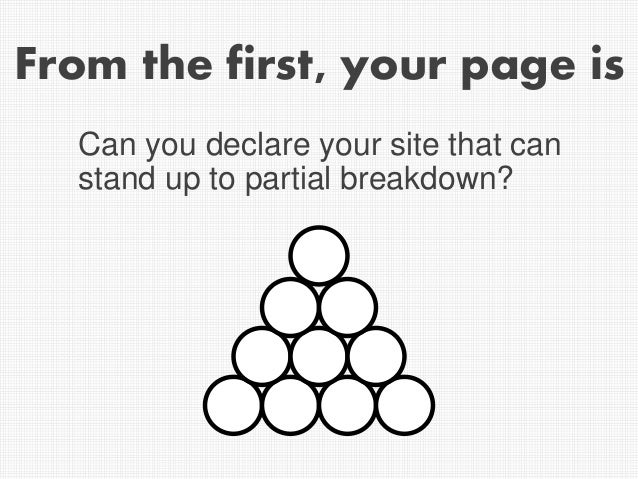 From the first, your page is Can you declare your site that can stand up to partial breakdown?