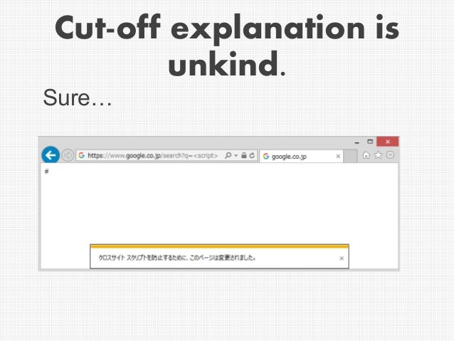 Cut-off explanation is unkind. Sure…