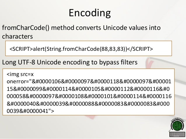 hex encoded xss filter