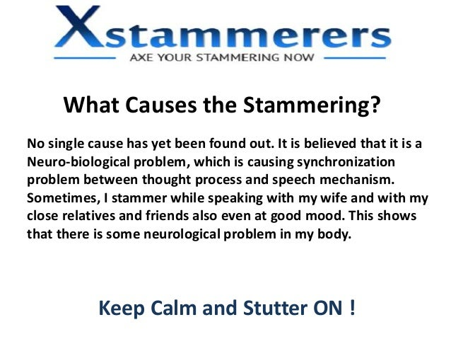 how to cure from stammering