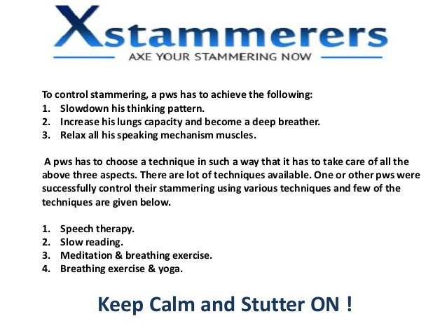 how to stop stuttering and stammering