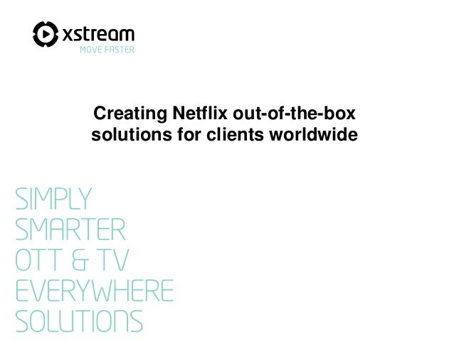 Creating Netflix out-of-the-box solutions for clients worldwide