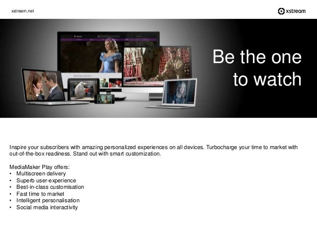 xstream.net Inspire your subscribers with amazing personalized experiences on all devices. Turbocharge your time to market...