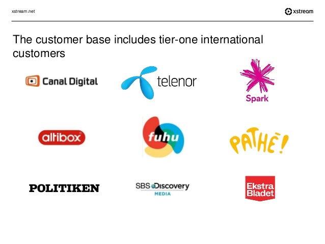 xstream.net The customer base includes tier-one international customers