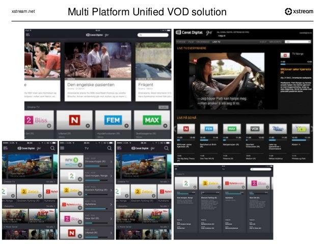 xstream.net Canal Digital Multi Platform Unified VOD solution