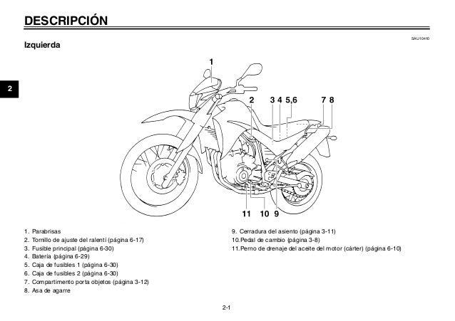 Xt 660 manual propetario