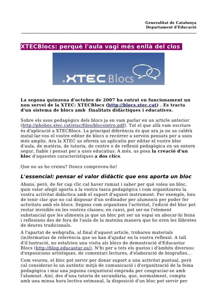Generalitat de Catalunya                                                                     Departament d'Educació ______...