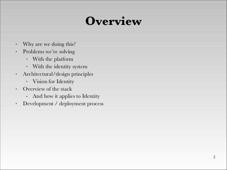 XTech 2008 - BBC Tech Refresh and Identity - Brendan Quinn And Ben Smith Slide 2