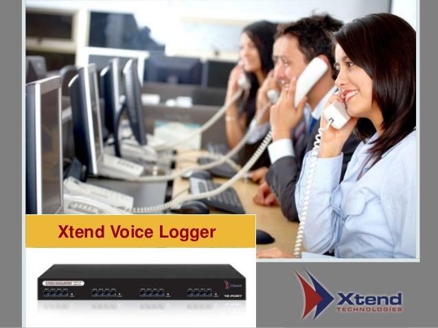 Xtend Voice Logger