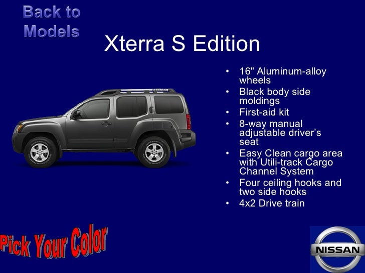 xterra. Black Bedroom Furniture Sets. Home Design Ideas