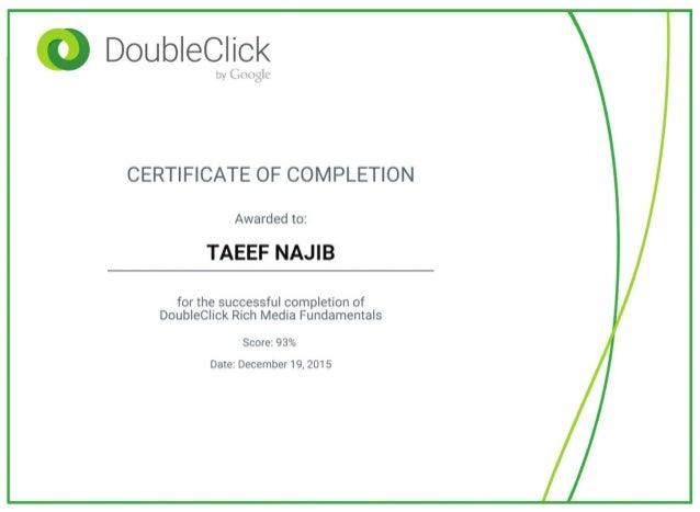 DoubleClick Rich Media Fundamentals Certification