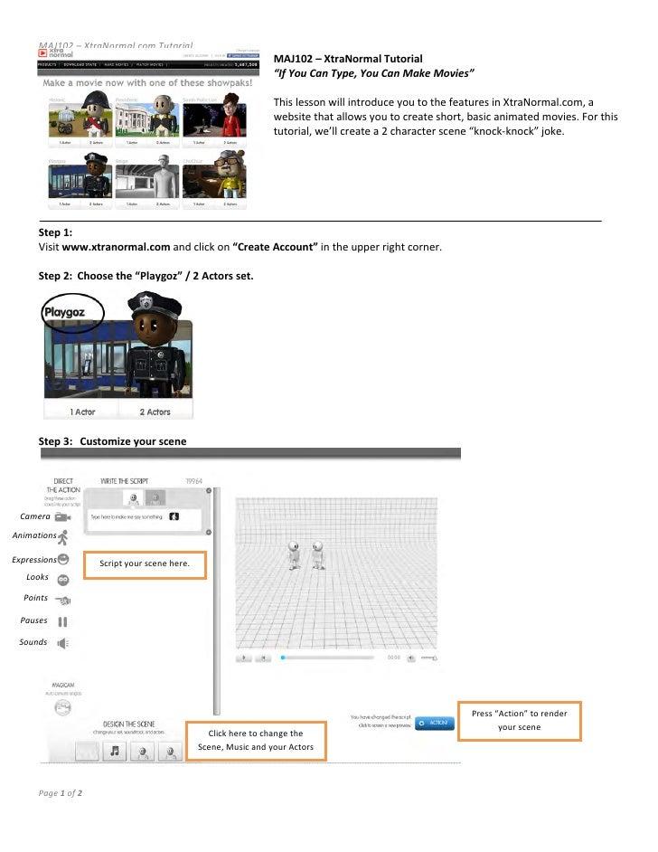 MAJ102–XtraNormal.comTutorial                                                                   MAJ102–XtraNormalTu...